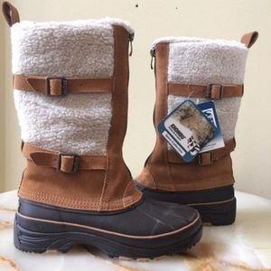 Khombu Waterproof Suede Shearling Boots
